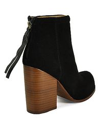 Jeffrey Campbell - Rumble - Black Suede Bootie - Lyst