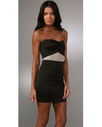Pleasure Doing Business | Black Duo Tone Sweetheart Dress | Lyst