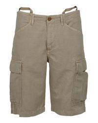 C P Company | Gray Linen Mix Shorts for Men | Lyst