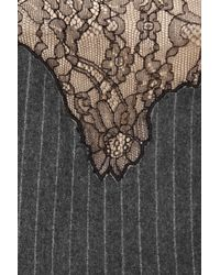 Alexander Wang Gray Wool and Lace Tailcoat Dress