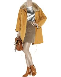 A.P.C. | Brown Corduroy Skirt | Lyst