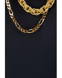 Balmain - Blue Chain Detail Silk Top - Lyst