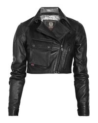 Belstaff | Black Blouson Lady Cropped Leather Jacket | Lyst