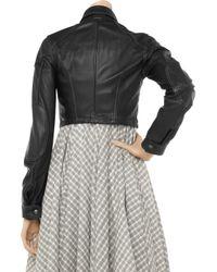 Belstaff - Black Blouson Lady Cropped Leather Jacket - Lyst
