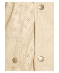 Belstaff Natural Panther Perforated-leather Jacket
