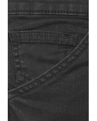 Current/Elliott Black The Skinny Cargo Low-rise Jeans