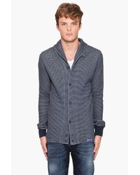 DIESEL | Gray Stells Cardigan for Men | Lyst