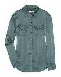 Equipment Green Power Ballad Silk-satin Shirt