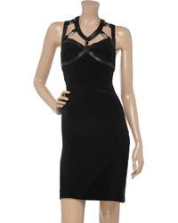 Felder Felder Black Zoe Silk and Leather Dress