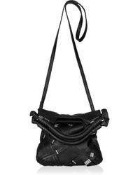 Foley + Corinna Black Grand St. Embellished Leather Bag