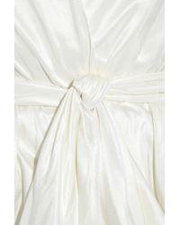 La Petite Salope White Silk-taffeta Wrap Coat