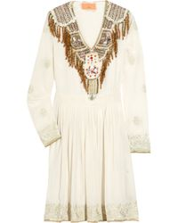 Manoush | White Embellished Silk Dress | Lyst