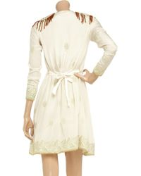 Manoush   White Embellished Silk Dress   Lyst