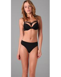 Marlies Dekkers | Black Dame De Paris Triple Strap Padded Push Up Bra | Lyst