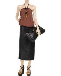 Marni Black Two-tone Crepe Strapless Dress