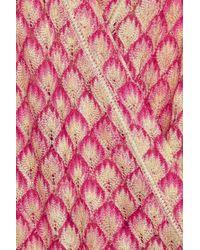 Missoni Pink Crochetknit Caftan