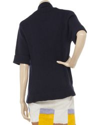 N.Peal Cashmere - Blue Crocodile Knitted Cashmere Cardigan - Lyst