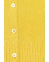N.Peal Cashmere - Yellow Cropped Cashmere Cardigan - Lyst