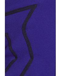 Proenza Schouler Purple Jersey Bustier Top