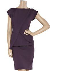 Roland Mouret - Purple Paveau Structured Wool-blend Dress - Lyst