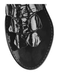 Roberto Cavalli Black Croc-effect Rubber Sandals