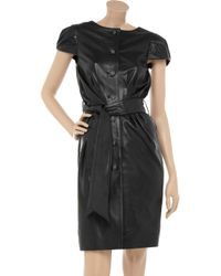 Sara Berman - Black Amy Whinehouse Belted Leather Dress - Lyst