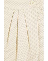See By Chloé - Metallic Heart-print Jacquard Wrap Skirt - Lyst