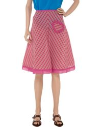 Sonia by Sonia Rykiel Pink A-line Cotton-blend Skirt