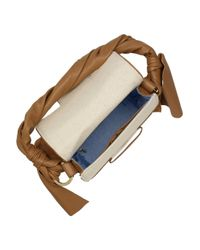 Z Spoke by Zac Posen Natural Twist-strap Canvas and Leather Bag