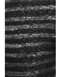 Zoe Tees Black Striped Cotton-blend Leggings