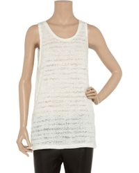 Zoe Tees White Burnout Cotton-blend Tank