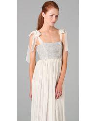 Alice + Olivia White Marianna Long Dress