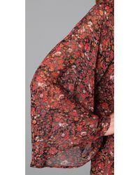 Blu Moon | Red Flower Child Dress | Lyst