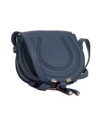 Chloé - Blue Calfskin Marcie Mini Crossbody Bag - Lyst