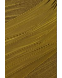 Donna Karan Green Asymmetric Stretch-jersey Dress