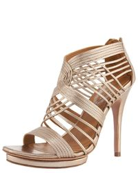 Elie Tahari | Metallic Colby Strappy Sandal | Lyst