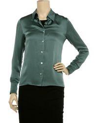 Equipment Green Fanfare Silk-satin Shirt