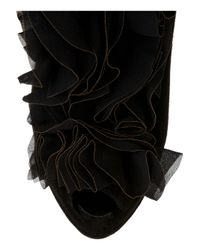 Giuseppe Zanotti | Black Ruffle-front Suede Ankle Boots | Lyst