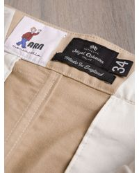 Nigel Cabourn Natural Nigel Cabourn Mens Pleated Knee Patch Pant for men