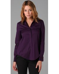 Theory | Purple Notin Shirt | Lyst