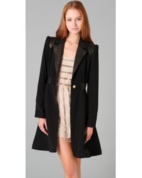 Alice + Olivia | Black Wright A-line Coat | Lyst