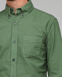 Band of Outsiders | Green Button Down Collar Oxford for Men | Lyst