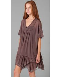 Free People - Brown Beaded Beauty Dress - Lyst