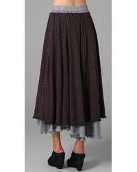 Free People - Brown The Checkered Plaid High Low Maxi Skirt - Lyst