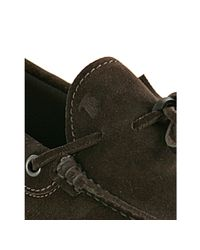 Tod's | Brown Suede Boatstitch Loafers for Men | Lyst