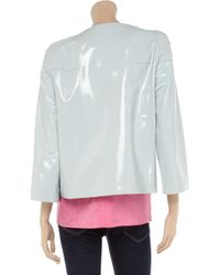 Marni Blue Glazed-leather Jacket