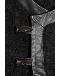 Rag & Bone Black Londsdale Wool-blend and Leather Vest
