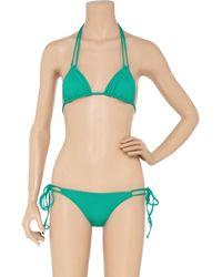 Shimmi Green Kit Triangle Bikini