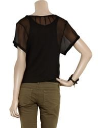 Day Birger et Mikkelsen Black Day Protect Sequined Silk-chiffon Top