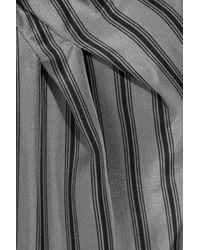 Marni Gray Striped Silk Dress